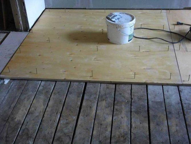 Укладка фанеры на пол: деревянный, бетонный, на лаги, выравнивание