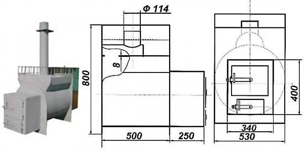 Металлическая печь для бани из трубы своими руками: вертикальные и горизонтальные, чертежи