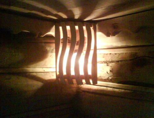 Как своими руками сделать в баню светильник из дерева?