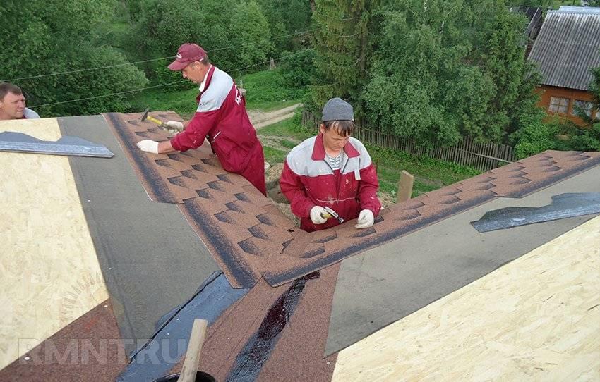 Гибкая черепица: технология монтажа крыши
