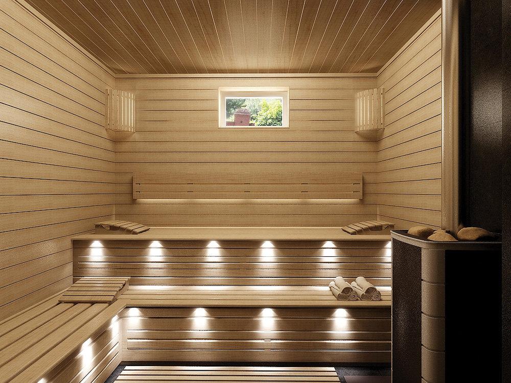 Внутренняя отделка бани из бруса