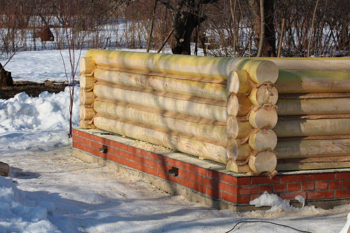 Баня из брёвен своими руками - строительство бани из бревен + фото