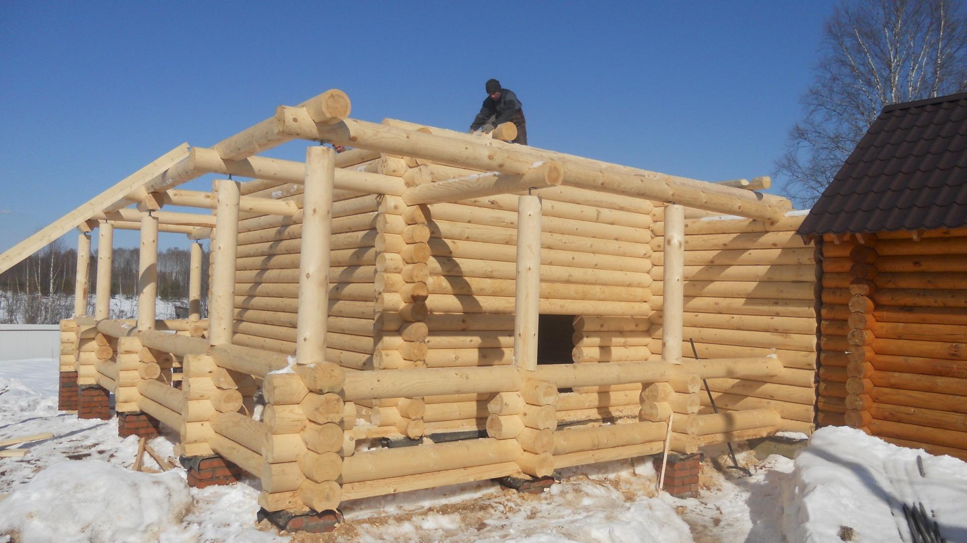 Строительство каркасной постройки в зимнее время года. | karkasnydom