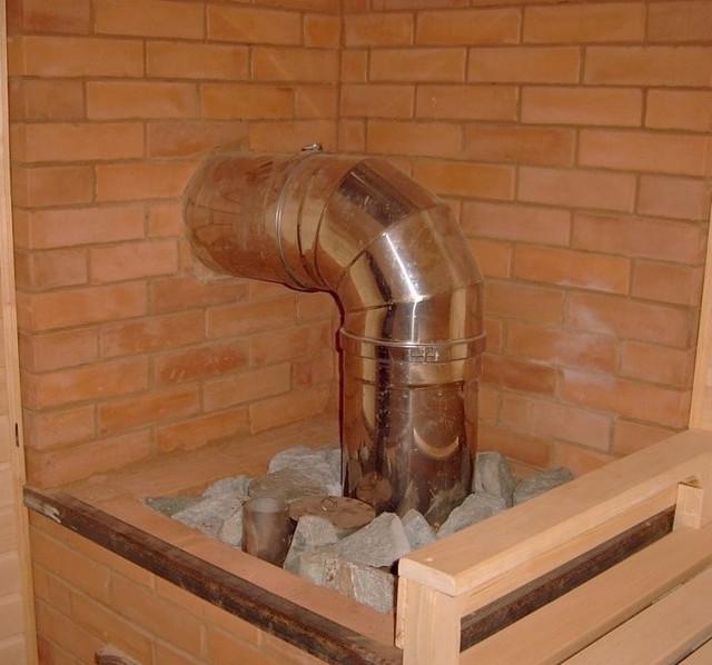 Какую трубу использовать для печки в бане