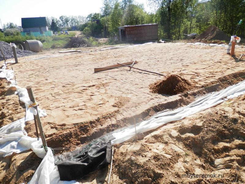 Подушка под ленточный фундамент (на глине и других грунтах): нужна ли песчаная, какую выбрать - из песка, щебня, бетона?