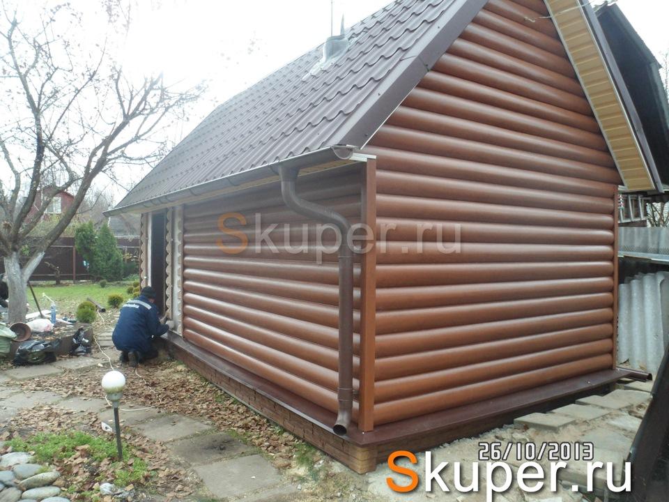Поэтапная отделка сайдингом деревянного дома или бани — строительство бани