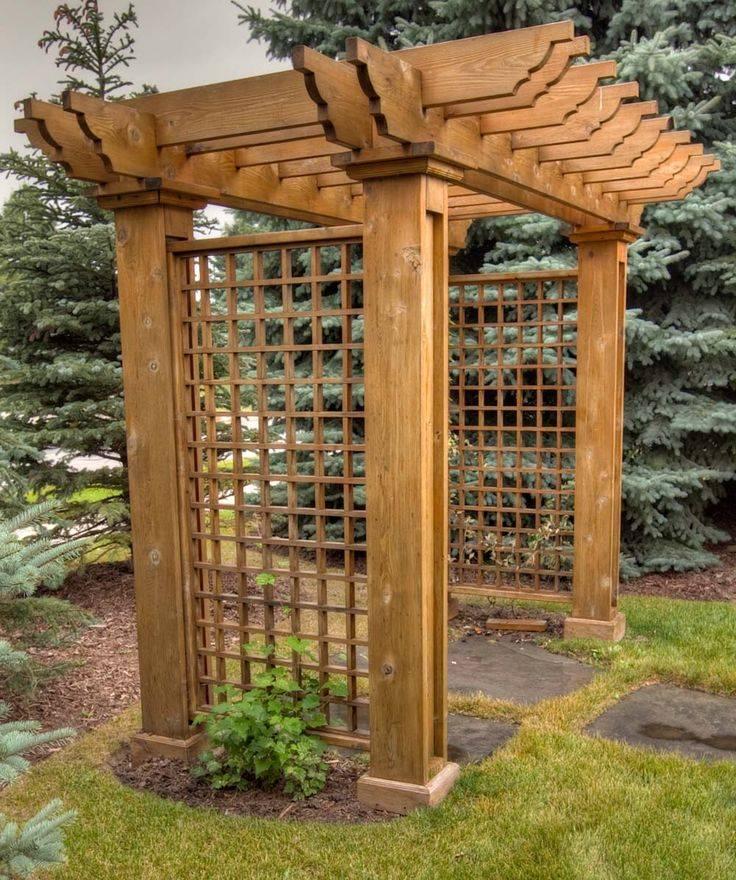 Как сделать перголы и арки из дерева и металла для дачи
