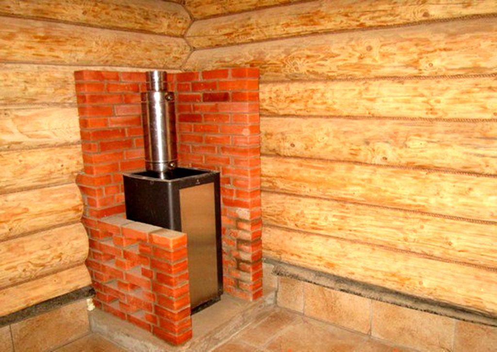 Каким кирпичем выложить стенку печки в бане