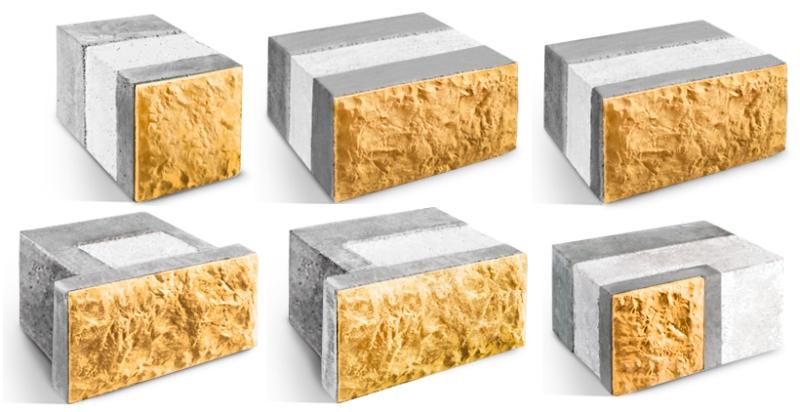 Многослойные стеновые блоки