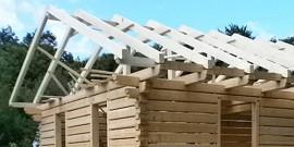 Как построить крышу на бане