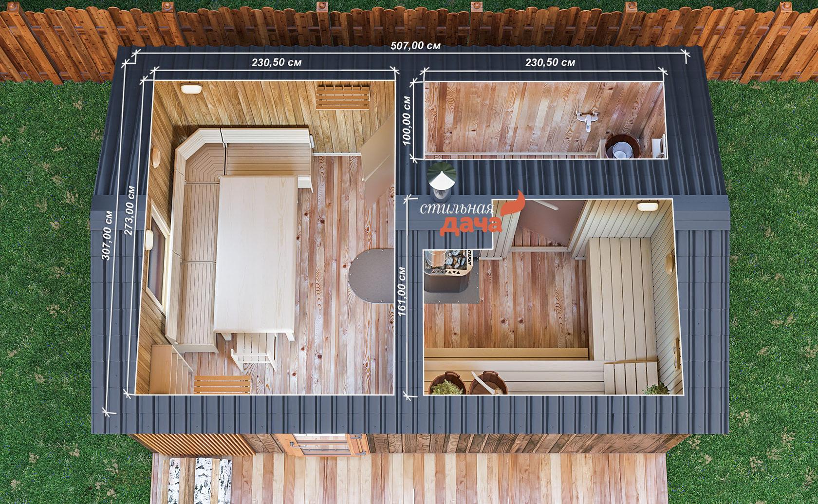 Баня размером 3 на 5: тонкости внутренней планировки
