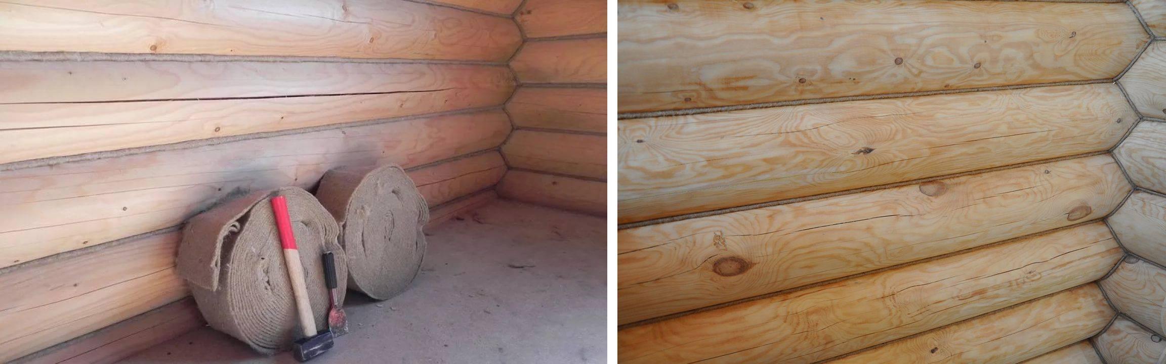 Чем и как конопатить дом из бруса — правильное утепление разными способами и материалами