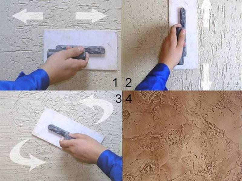 Нанесение штукатурки короед - подготовка стен, расход, технология