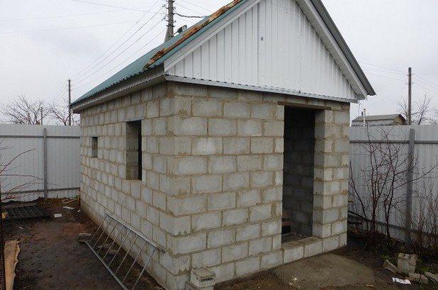 Баня из керамзитобетонных блоков своими руками