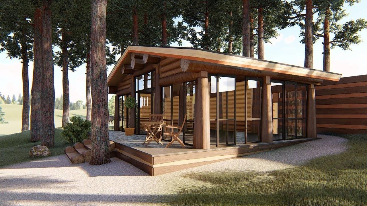 Лучшие проекты бани с террасой, комнатой отдыха и зоной барбекю   (40+ фото & видео)