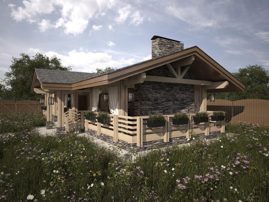 Летняя кухня с террасой под одной крышей дома: фото проектов, оптимальные размеры
