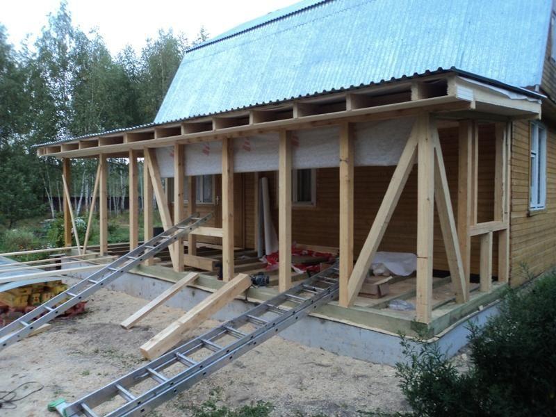 Баня с верандой под одной крышей: красивые проекты