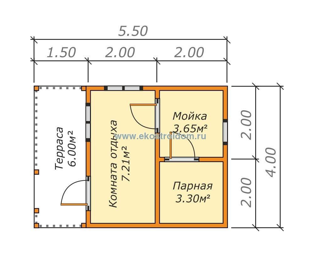 Планировка бани 4х5 – основные особенности и правила