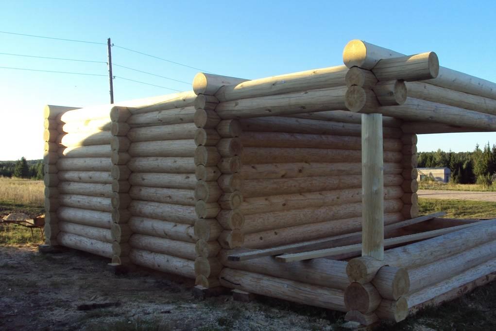 Бани из бревна: технология постройки, достоинства