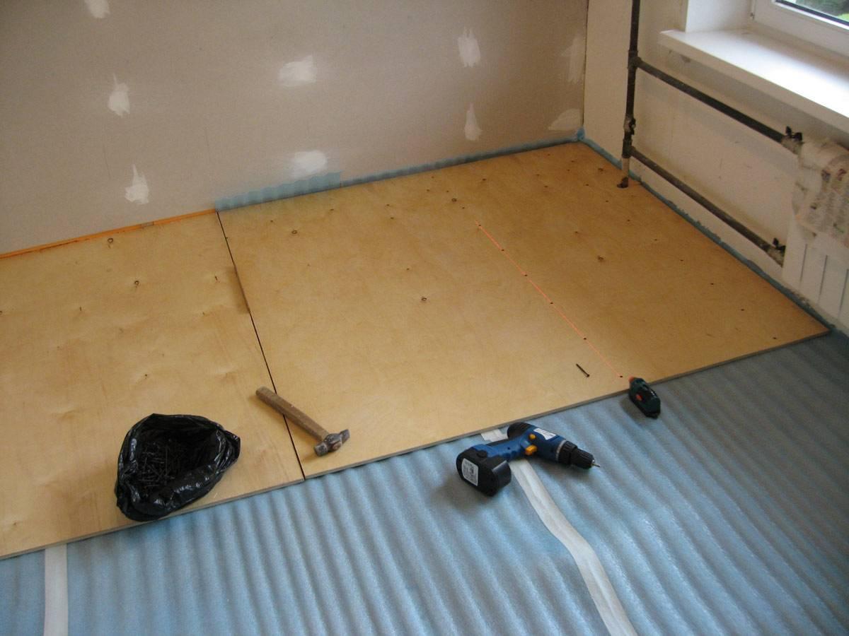Выравнивание пола фанерой на старый деревянный пол: популярные схемы +советы по проведению работ