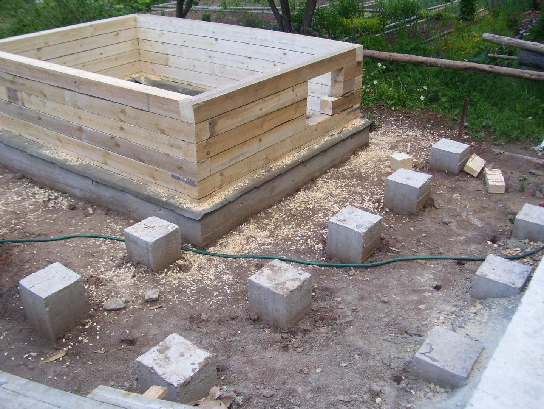 Фундамент для бани из блоков: пеноблоков, столбчатый, своими руками, из шлакоблоков под баню