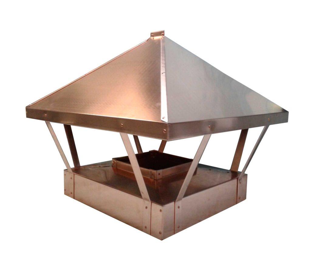 Как изготовить колпак на дымоход своими руками, что выбрать козырек или зонтик, детально на видео и фото