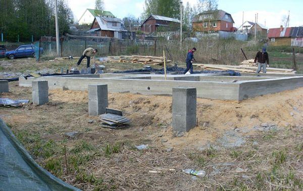 Какой фундамент делать на глинистой почве - строим баню или сауну