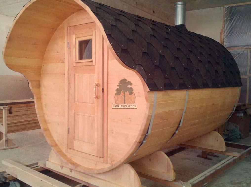 Как построить баню бочку