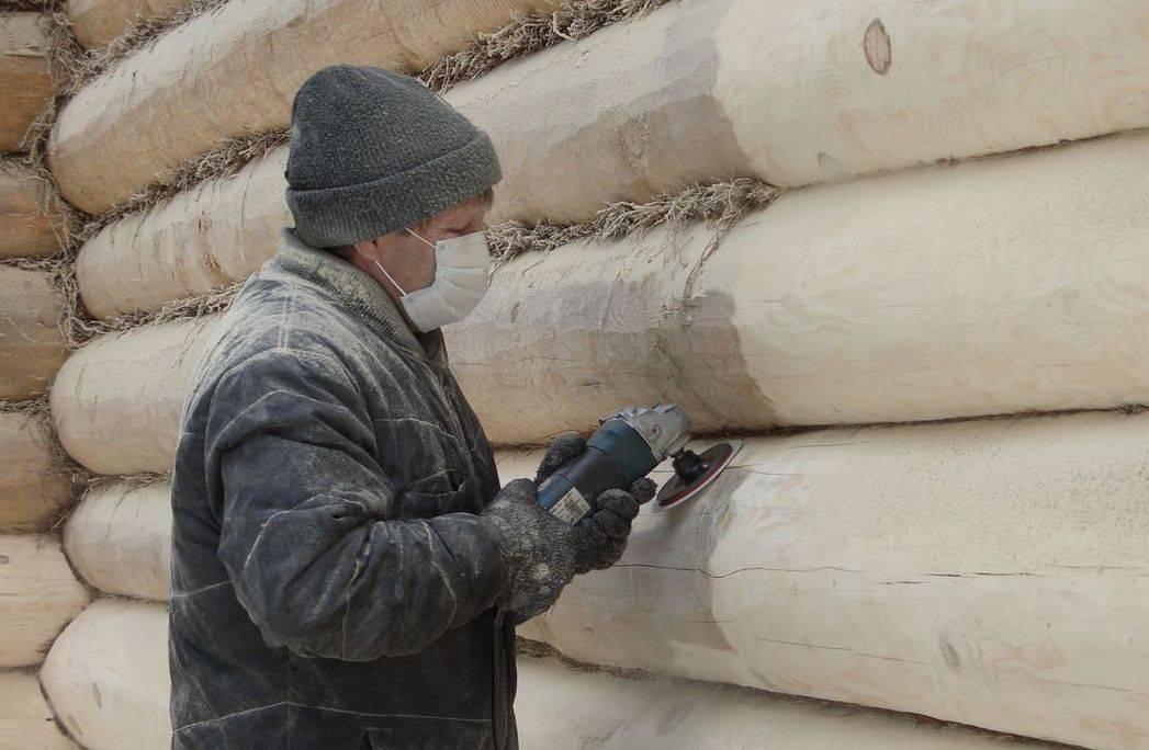 Шлифовка сруба: чем лучше шлифовать бревна и как полировать торцы, пескоструйная обработка стен своими руками, какие нужны инструменты и какая должна быть обработка бревенчатого дома после