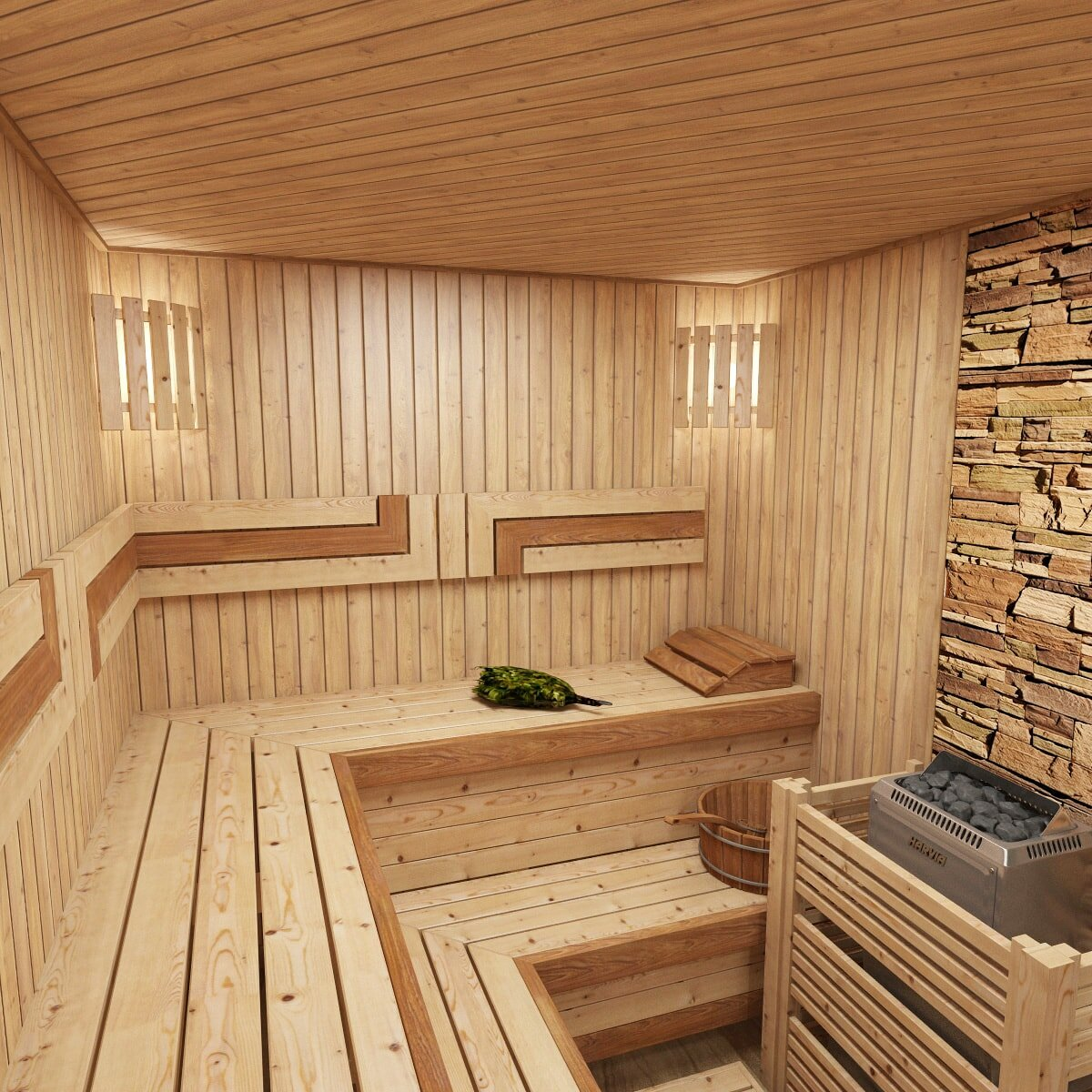 Как лучше всего спроектировать комнату отдыха в бане?