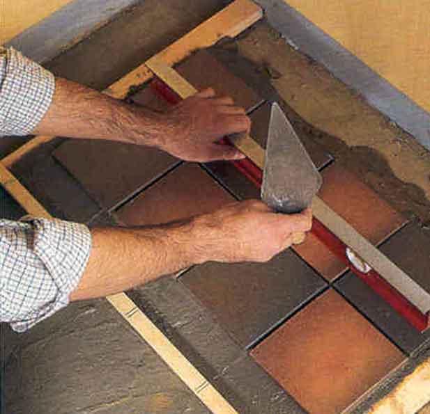 Пол в бане из плитки на деревянный пол своими руками