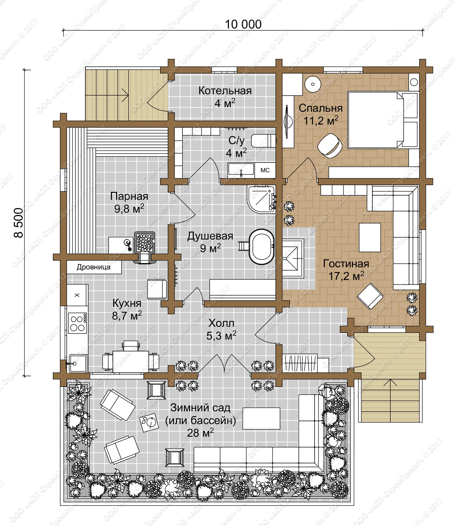 Проекты дома-бани (67 фото): одноэтажные варианты размером 6х8 под одной крышей с гаражом, двухэтажные бани с пристроем и бильярдом