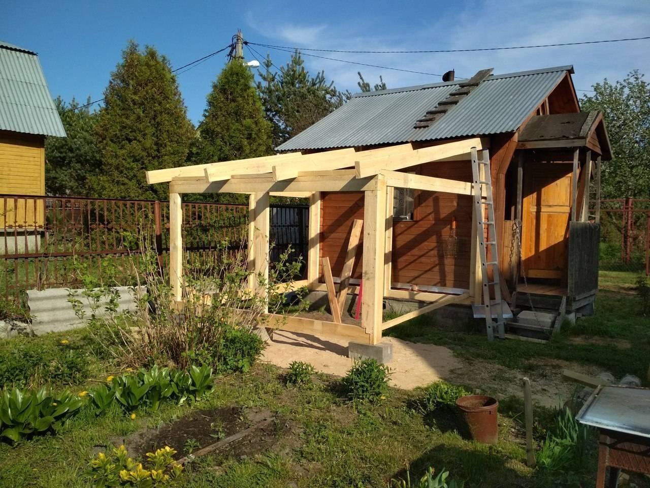 Баня с террасой: строительство с нуля + как пристроить террасу к готовой бане