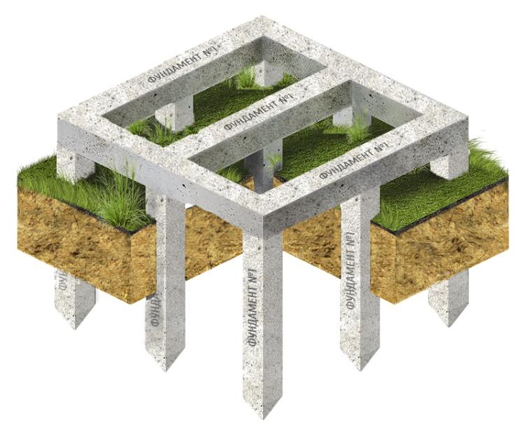 Свайный фундамент с монолитным ростверком