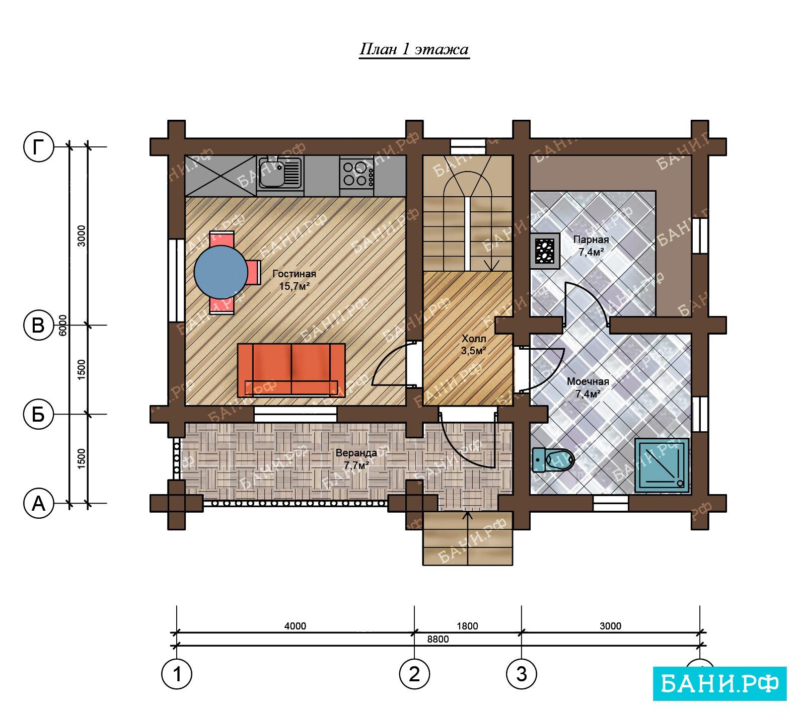 Проекты бань: лучшие схемы и чертежи проектов, выбор разновидности бани, особенности элементов обустройства