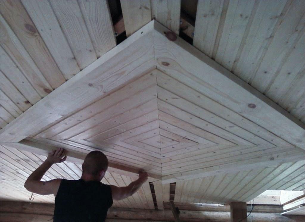 Потолок в парилке: устройство потолка в парной русской бани, как сделать дымоход, фото и видео