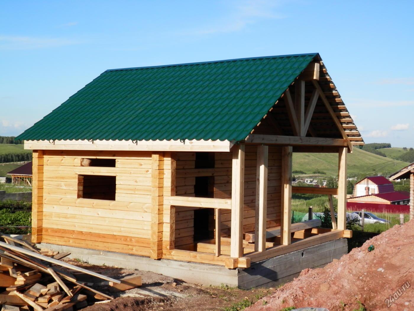Как делается односкатная крыша для бани