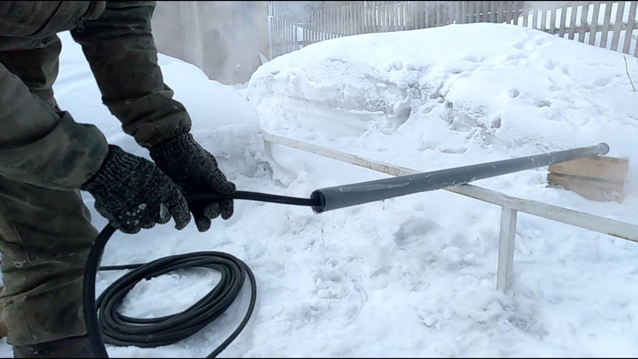 Как разморозить трубу с водой под землей? если замерзла - как отогреть водопровод, разморозка парогенератором своими руками