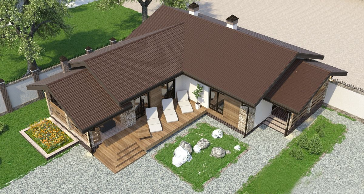Дом с баней под одной крышей – проекты и строительство
