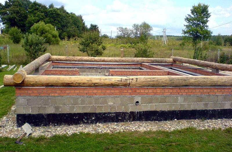 Столбчатый фундамент для бани