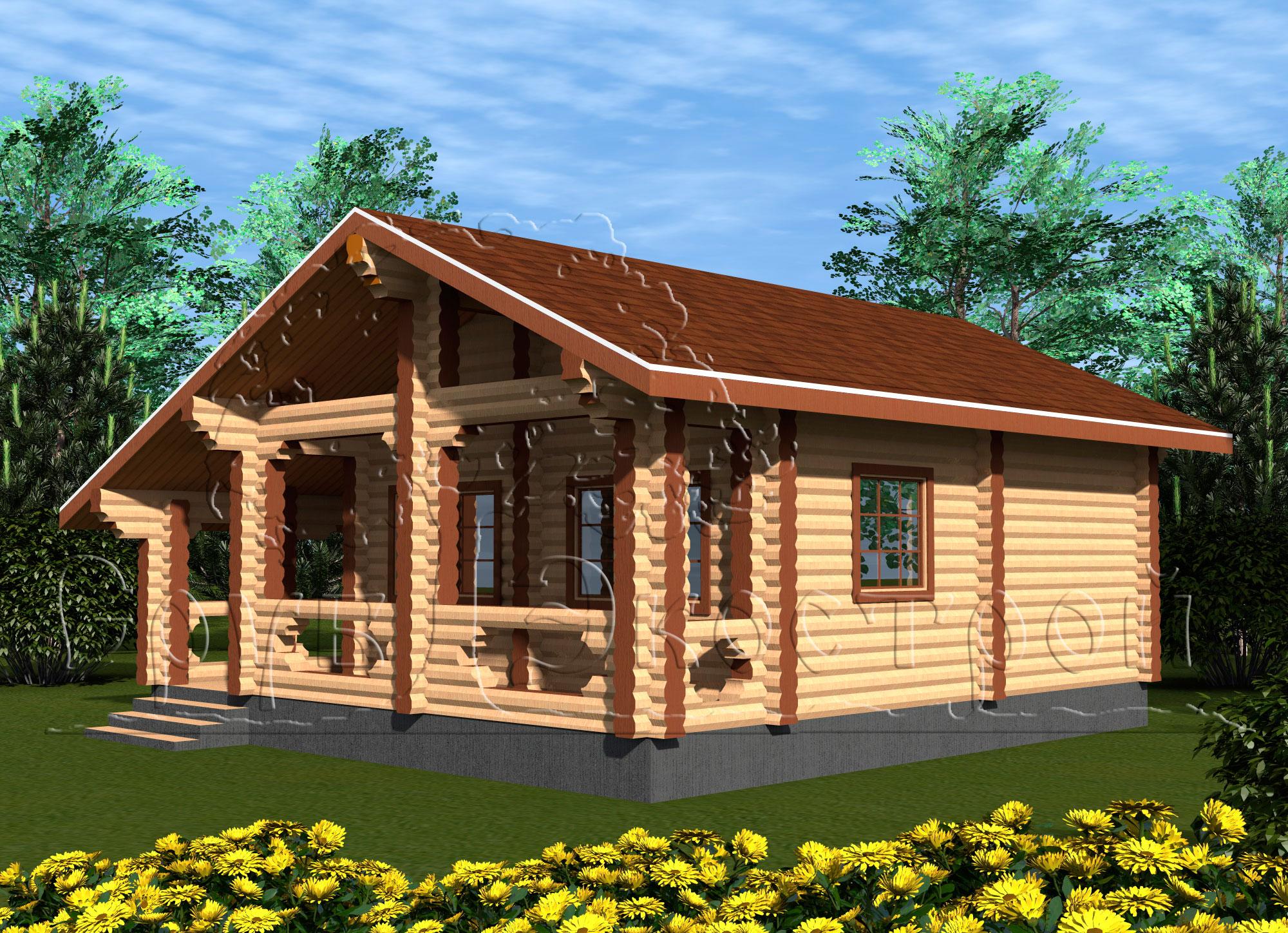 Проекты деревянных бань: обзор приемлемых вариантов