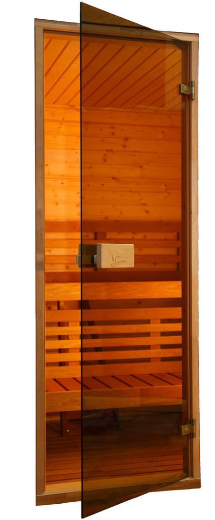 Стеклянные двери для бани: размеры, установка