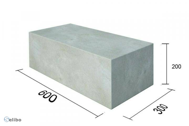 Размер пеноблока и другие характеристики материала