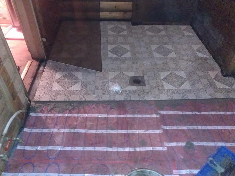 Технология укладки плитки в бане