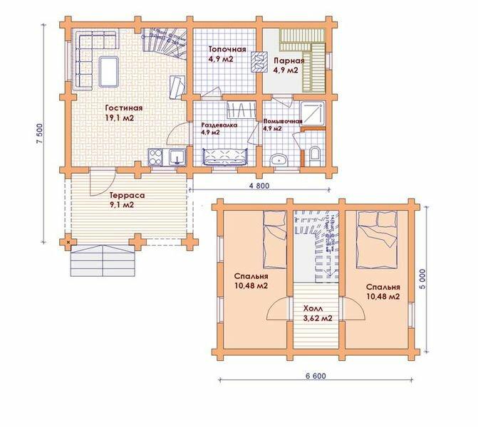 9 достоинств и недостатков проектов домов с баней внутри [+8 фото]