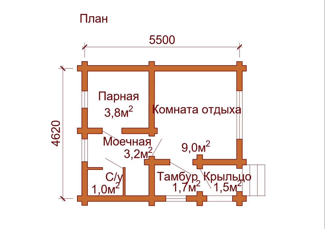 Проект бани 5 на 5: фото, особенности составления и примеры | построить баню ру
