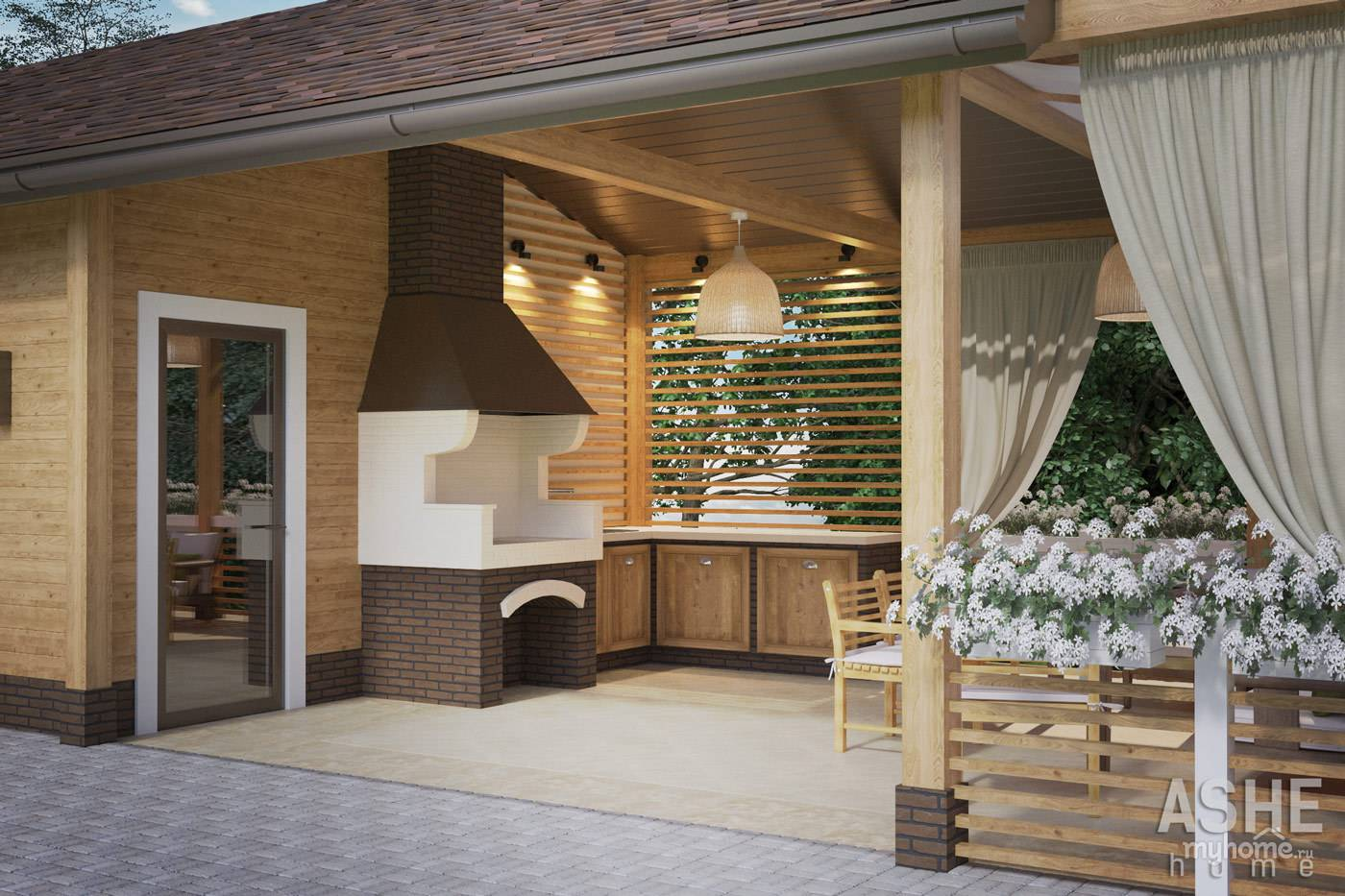 Баня с беседкой – различные варианты совместных построек и некоторые проекты