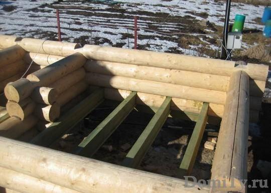 Фундамент для бани из бревна