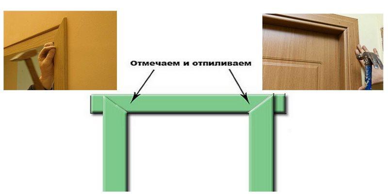 Порядок установки наличников на межкомнатные двери своими руками