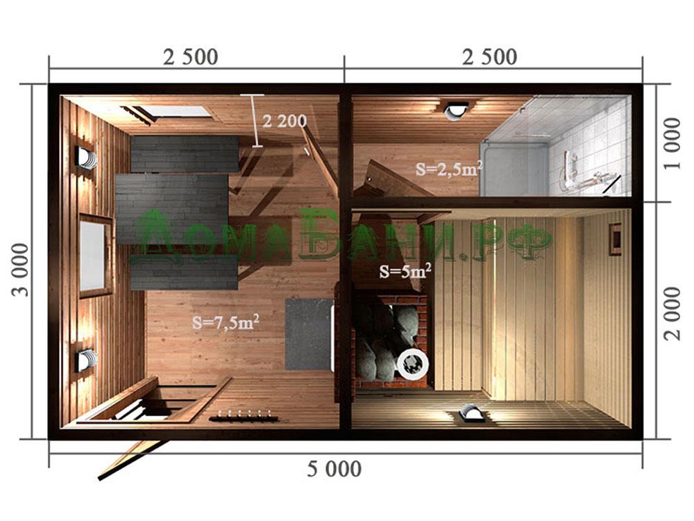 Бани 5х6 (53 фото): проекты и планировка бани из бревна и сруба, из блоков с мансардой внутри и туалетом, с террасой и другие варианты